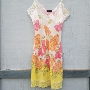 Wet Seal | Butterfly Print Lace Sequined Slip